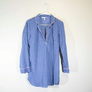 Victoria Secrets Blue Light Blue Plaid Long Top
